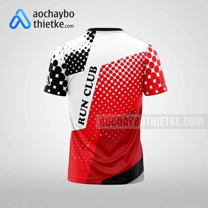 Mẫu áo chạy bộ thiết kế màu đỏ Runner WIN R11 mặt sau