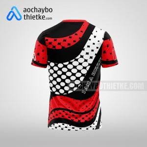Mẫu áo chạy bộ thiết kế màu đỏ Running BEE R13 mặt sau