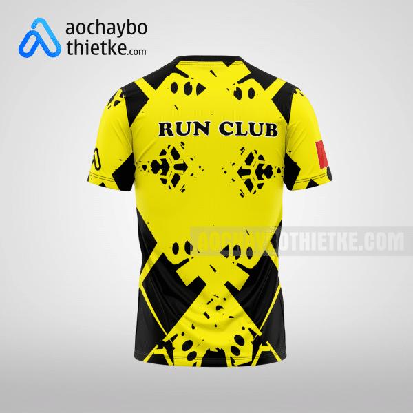 Mẫu áo chạy bộ thiết kế màu vàng Running GoldTime R9 Mặt sau