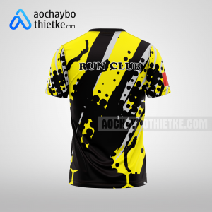 Mẫu áo chạy bộ thiết kế màu vàng Running Speed R10 mặt sau
