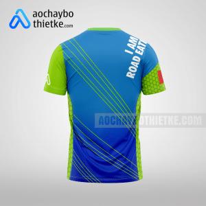 Mẫu áo chạy bộ thiết kế xanh dương Road Eaters mặt sau R1