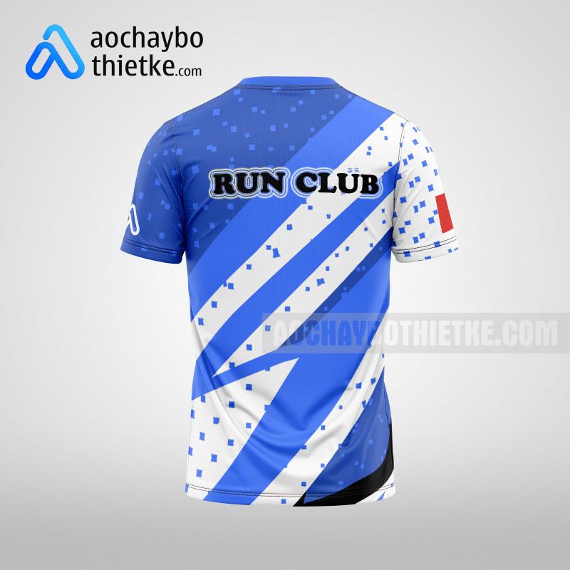 Mẫu áo running thiết kế Blue Waves R22 mặt sau