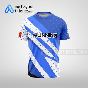 Mẫu áo running thiết kế Blue Waves R22 mặt trước