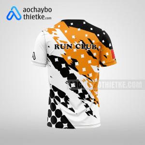 Mẫu đồng phục chạy bộ thiết kế màu da cam LUKY R17 mặt sau