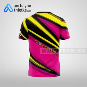 Mẫu đồng phục chạy bộ thiết kế màu hồng Pink R15 mặt sau