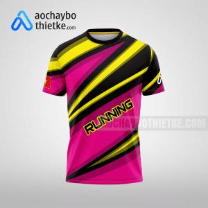Mẫu đồng phục chạy bộ thiết kế màu hồng Pink R15 mặt trước