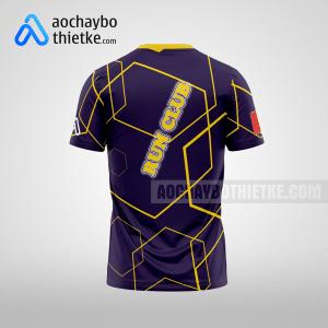 Mẫu áo chạy Marathon thiết kế màu tím R37 mặt sau
