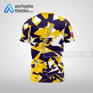 Mẫu áo chạy Marathon thiết kế màu vàng tím R38 mặt sau