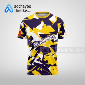 Mẫu áo chạy Marathon thiết kế màu vàng tím R38 mặt trước