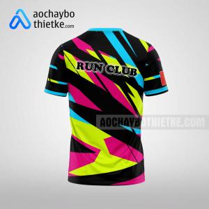 Mẫu áo chạy bộ thiết kế Multicolor R66 mặt sau