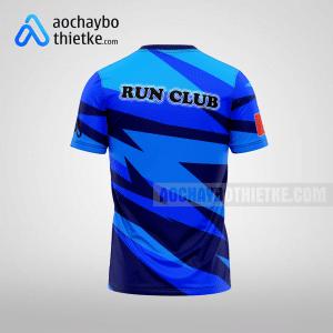 Mẫu áo chạy bộ thiết kế blue path R63 mặt sau