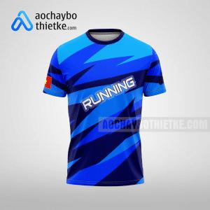 Mẫu áo chạy bộ thiết kế blue path R63 mặt trước