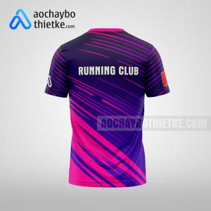 Mẫu áo chạy bộ thiết kế đẹp Purple rainbow R107 mặt sau