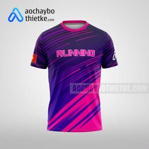 Mẫu áo chạy bộ thiết kế đẹp Purple rainbow R107 mặt trước