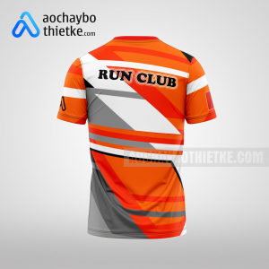 Mẫu áo chạy bộ thiết kế màu cam Amazing You R61 mặt sau