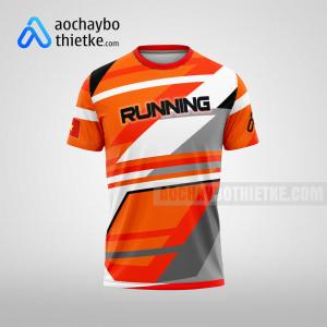 Mẫu áo chạy bộ thiết kế màu cam Amazing You R61 mặt trước