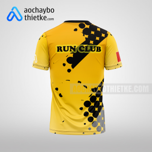 Mẫu áo chạy bộ thiết kế theo yêu cầu Yellow Bee R28 mặt sau