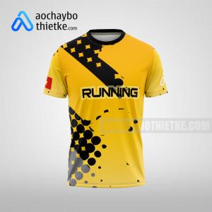 Mẫu áo chạy bộ thiết kế theo yêu cầu Yellow Bee R28 mặt trước