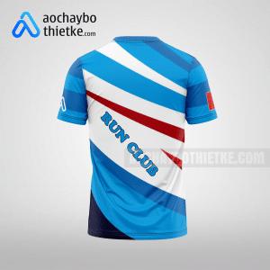 Mẫu áo chạy bộ thiết kế theo yêu cầu blue bird R50 mặt sau