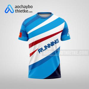 Mẫu áo chạy bộ thiết kế theo yêu cầu blue bird R50 mặt trước