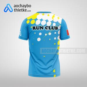 Mẫu áo running chạy giải tự thiết kế Blue Team R31 mặt sau