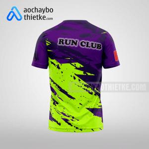 Mẫu đồng phục chạy bộ thiết kế hà Nội Purple flowers R70 mặt sau