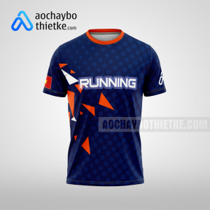 Mẫu thiết kế áo chạy Marathon xanh tím thna R38 mặt trước