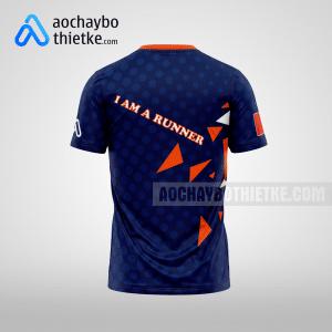 Mẫu thiết kế áo chạy Marathon xanh tím thna R39 mặt sau