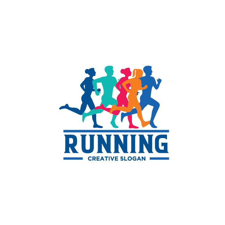 mẫu logo đội, club chạy bộ running, marathon đẹp (21)