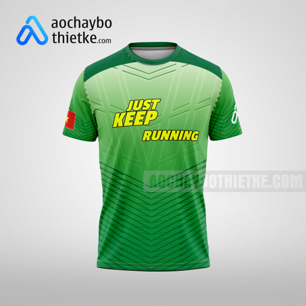 Mẫu áo runner chính hãng giá rẻ tại hòa bình R381 thân trước